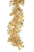 Christmas golden tinsel — Stock Photo