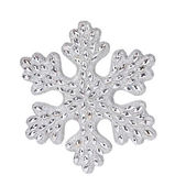 Silver snowflake decoration — Photo