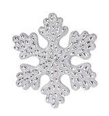 Silver snowflake decoration — Stock Photo