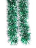 Christmas green tinsel — Photo