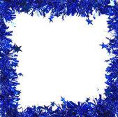 Tinsel natale blu — Foto Stock