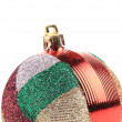 Christmas striped ball for tree — Stock Photo #42591043