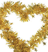 Christmas yellow tinsel — Photo