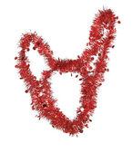 красная рождественская мишура — Стоковое фото