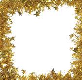 Enfeites de Natal dourado — Fotografia Stock