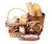 Fresh bread in baskets — Stock Photo