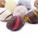 Chocolate seashell — Stock Photo