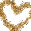 Christmas golden tinsel — Stockfoto