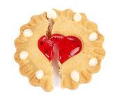 Biscuits broken heart — Stock Photo