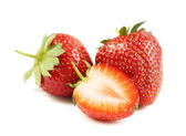 Two and half strawberries — Stock Photo