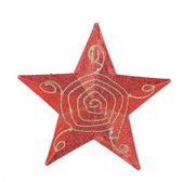 Red star christmas decoration — Stock Photo