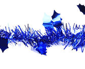 Christmas blue tinsel — Foto de Stock
