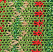 Knitted fabric texture with dots — Stock Photo