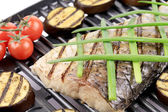 Grilled carp fillet — Stock Photo