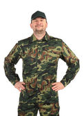 Proud man in military suit — Stock Photo