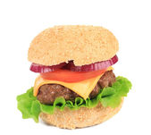 Big appetizing fast food hamburger — Стоковое фото