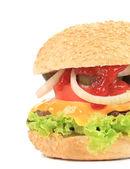 Appetizing fast food hamburger — Foto de Stock
