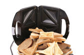 Composition with sandwich toaster — Stockfoto