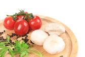 Vegetables on platter. — Foto Stock