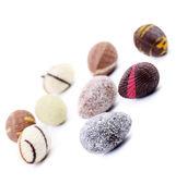 Piedras y conchas de chocolate — Foto de Stock
