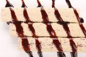 печенье с карамельной линии. — Стоковое фото