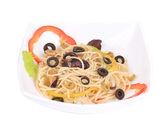 Sea salad with spaghetti — Stock Photo