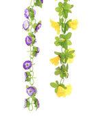 Collage de flores artificiales — Foto de Stock