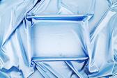 Fondo de seda azul — Foto de Stock