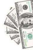 One hundred dollar greenbacks — Stock Photo
