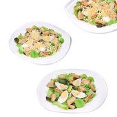 Caesar salad collage. — Stock Photo