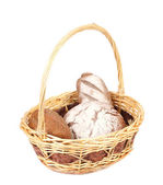 Brown bread in basket. — Stock Photo