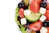 Greek salad in plate. — 图库照片