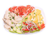 Chicken salad with potatoes. — Stock Photo