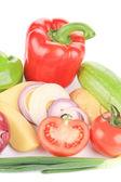 świeże warzywa kolaż. — Zdjęcie stockowe