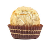 Sweet chocolate candy wrapped in golden foil. — ストック写真
