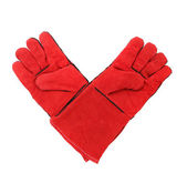 Red warm gloves. — Stock Photo