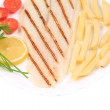 Grilled fish with french fries. — Stock Photo #45644811