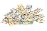 Heap of dollar bills. — Stock Photo