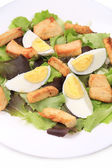 Caesar salad with eggs. — Stock Photo