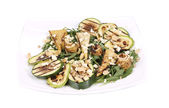 Salad with grilled vegetables and tofu. — Stock Photo