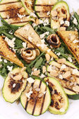 Salad with grilled vegetables and tofu — Stock Photo