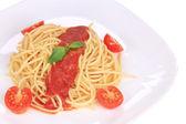 Italian pasta with tomato sauce. — Stock Photo