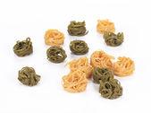 Raw italian pasta tagliatelle. — Stock Photo