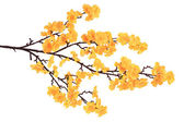 Artificial flowering branch. — Stock Photo