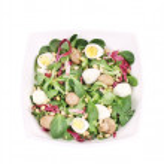 Mushroom salad with pine nuts and radicchio. — Stock Photo #45656787