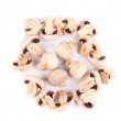 Fresh sliced champignon mushrooms. — Stock Photo #45657813