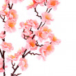 Branch of gentle pink artificial flowers. — Stock Photo #45658215