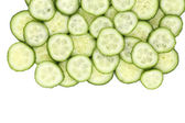 Close up fresh green sliced cucumber. — Stock Photo