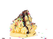 Cake topped with sprinkles. — Stock Photo