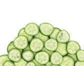 Close up of cut cucumbers. — Stock Photo